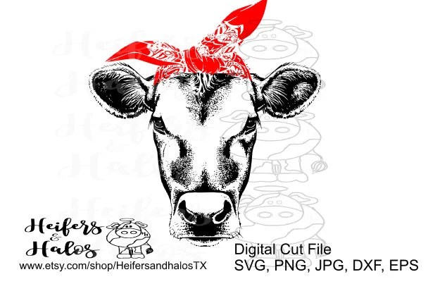 Cow Files Bandana Svg Free