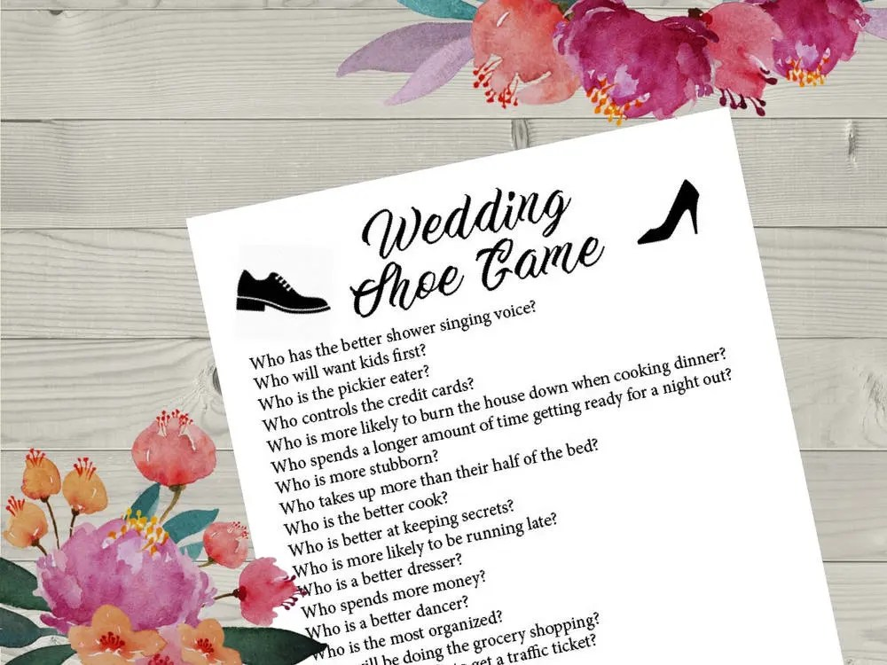 Wedding Game Shoe Questions
