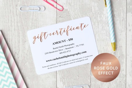 Printable pdf rose   Etsy Rose Gold Gift Certificate Template  INSTANT DOWNLOAD  Editable PDF  Printable  Gift Voucher