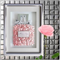 757bb8625d0b Miss Dior Perfume Bottle Picture 3D Without Frame Butterflies