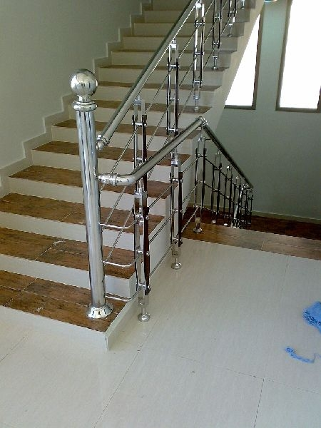 Stainless Steel Stair Railing Manufacturer In Gurgaon Haryana   Steel Steps For Stairs   Iron Plate   Steel Structure   2 Step   Metal Floor Plate   Double Stringer