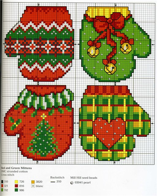 Knit Mitten Pattern Christmas
