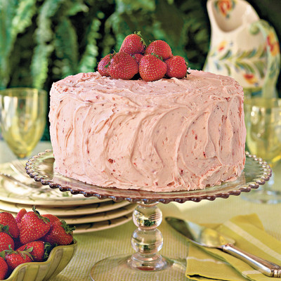 Triple Decker Strawberry Cake Recipe Easter Cakes