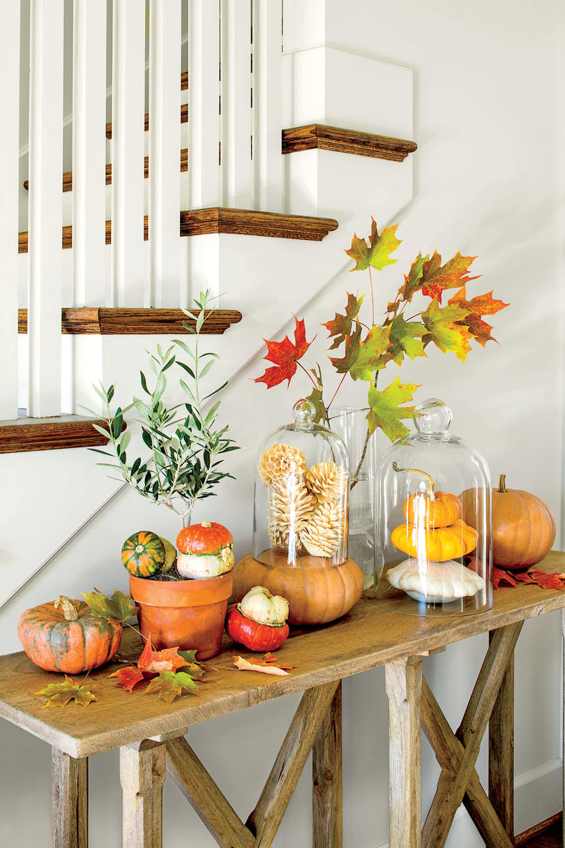 Fall Decorating Ideas  Southern Living Fall Pumpkin Tableau