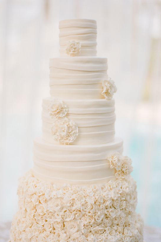 White Wedding Cakes   Southern Living Tall and Ruffled Cake