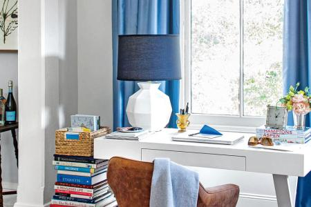 50 Small Space Decorating Tricks   Southern Living Lean on a Book Stack  Small spaces