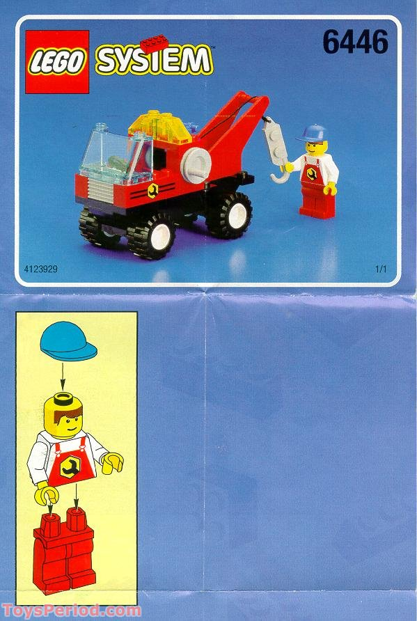 Lego 6446 Crane Truck Set Parts Inventory And Instructions