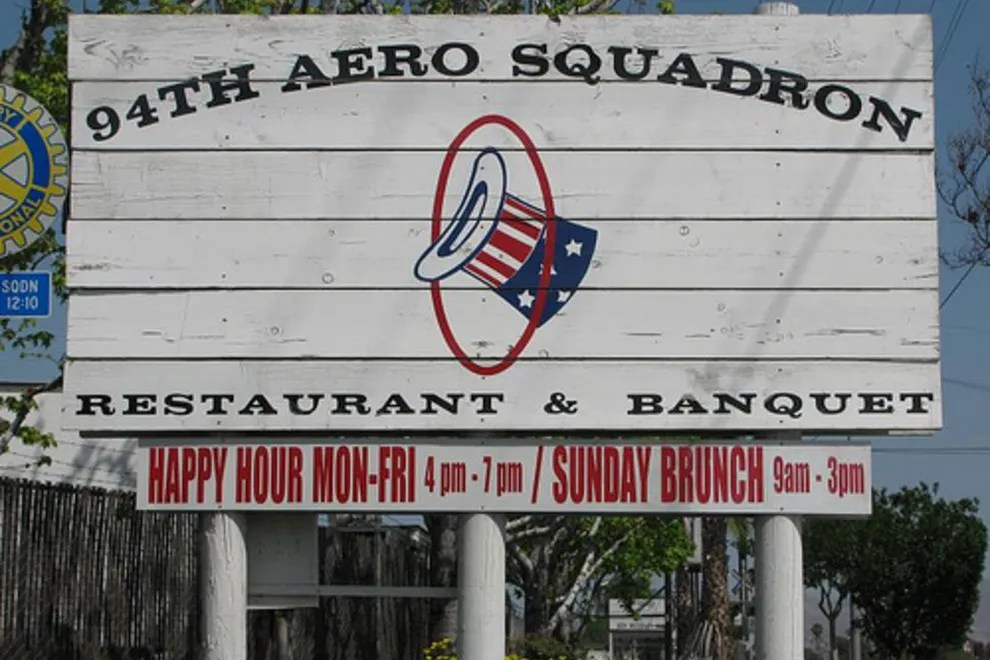 Menu 94th Aero Squadron