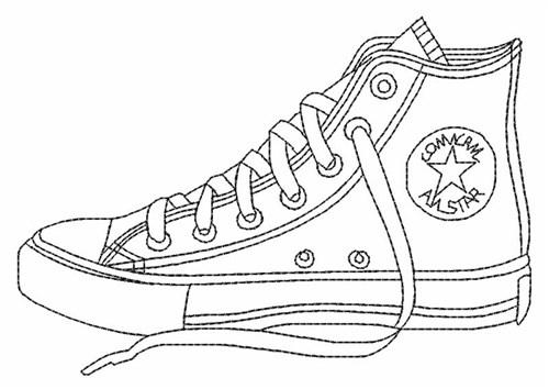 Converse Shoe Outline Sheet