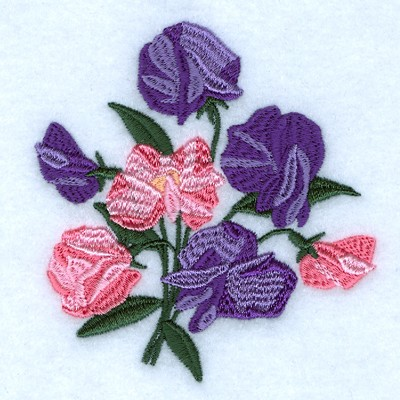 sweet pea embroidery # 16