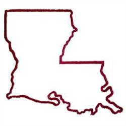 louisiana state outline clip art