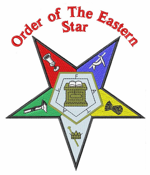 Order of Eastern Star Embroidery Designs, Machine ...