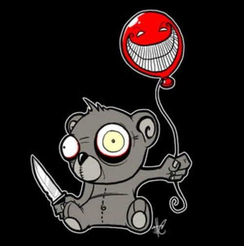 Evil Teddy Bear Killer Drawings