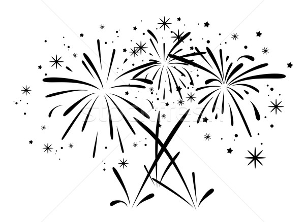 Line Drawing Fire Works