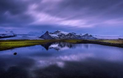 Wallpaper clouds, sunset, nature, lake, reflection ...