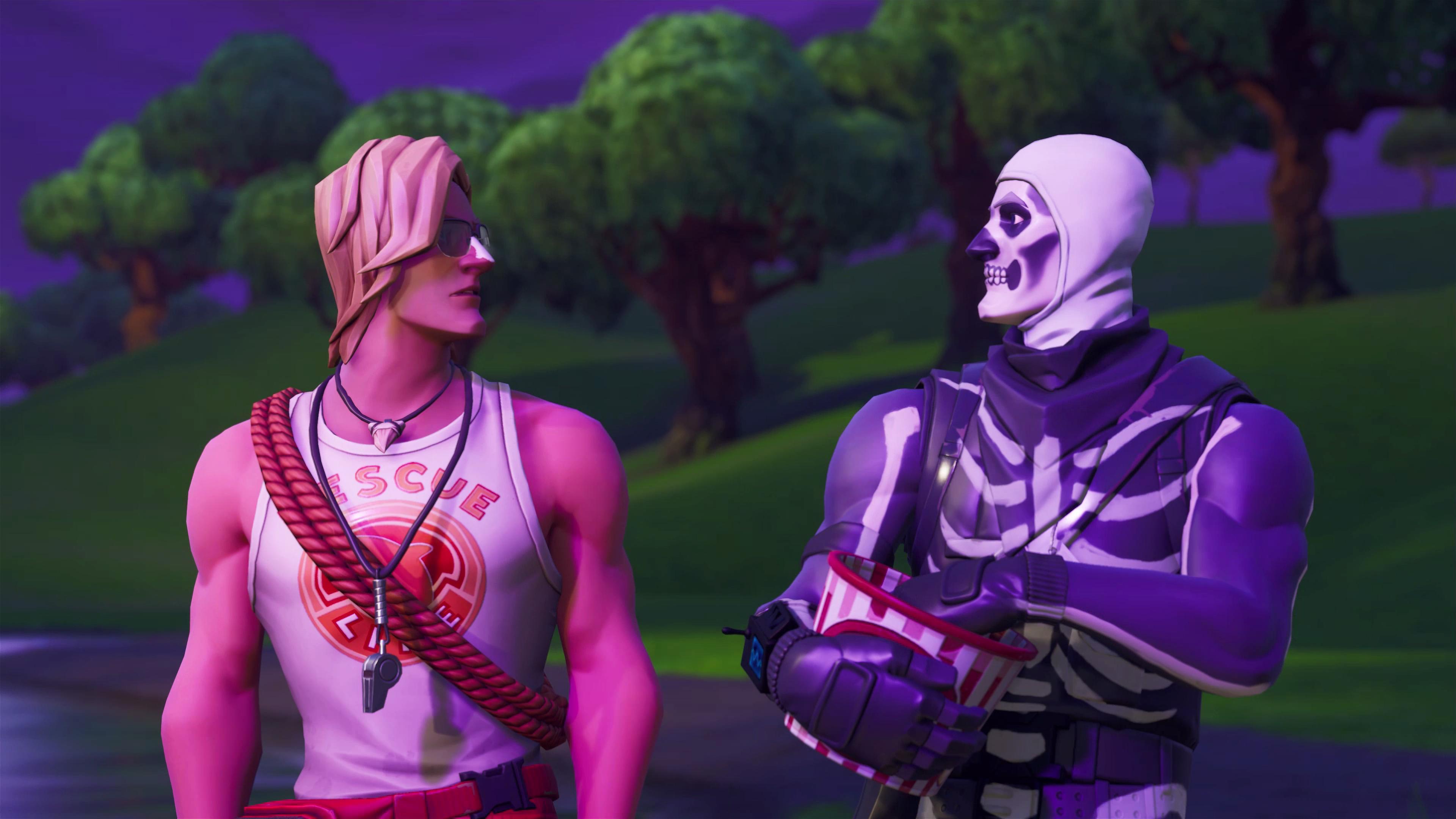 Background Trooper Fortnite Skull