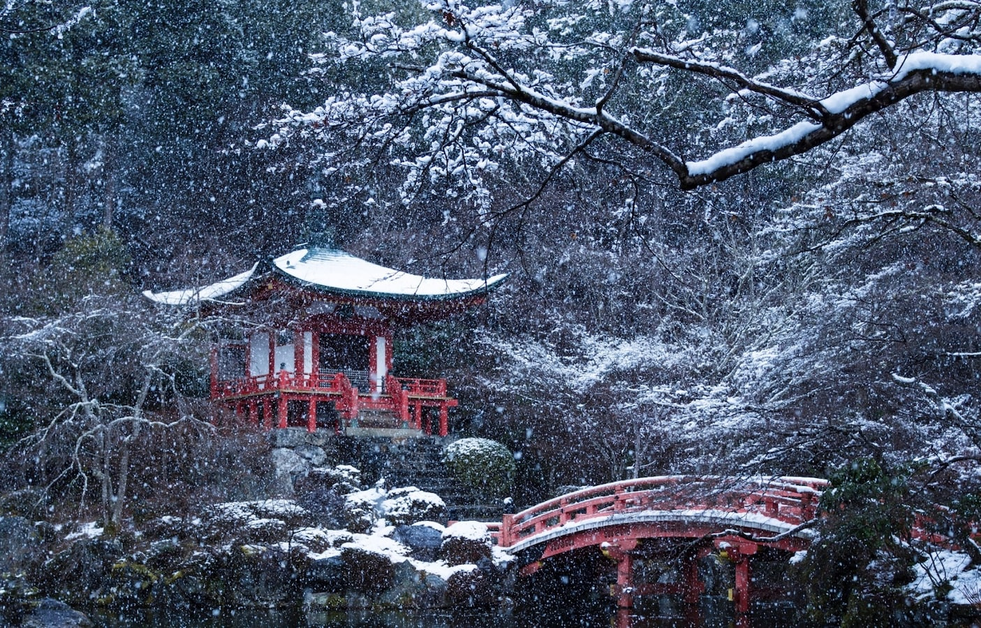 The Snowscape Of Daigo Temple All About Japan