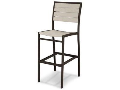 Outdoor Bar Stools   PatioLiving POLYWOOD     Euro Recycled Plastic Side Bar Chair