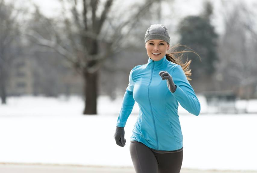 Weather Running Clothing According