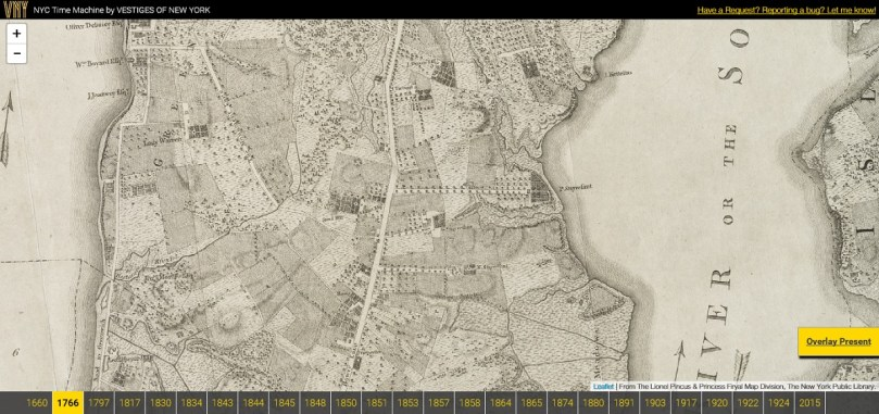 NYC Time Machine Lets Users Navigate Overlaid Maps from 1600 to     Posted On Tue  February 24  2015 By Dana Schulz In History  maps
