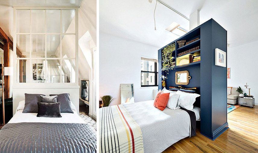 10 Ways to Make a Studio Apartment Feel Bigger   6sqft room divider ideas