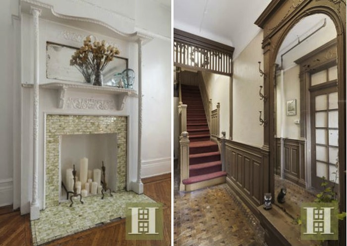 2M Historic Bed Stuy Brownstone Comes With an Ethereal Interior   6sqft 231 decatur street  interior details  bed stuy  brownstone  fireplace