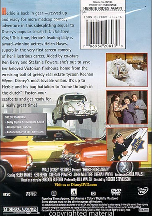 herbie rides again opening dvd - 500×709