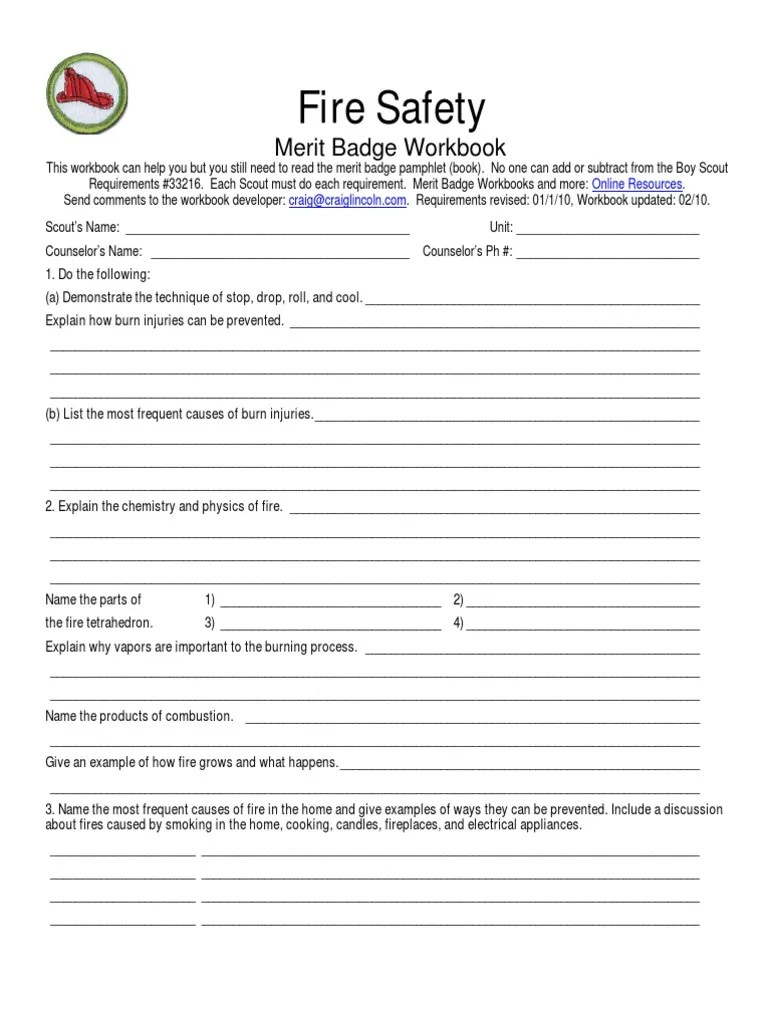 Worksheets Fire Safety Merit Badge Worksheet space exploration merit badge worksheet free worksheets library w ksheets re d g b dge ksheet citys lv ge nddesign