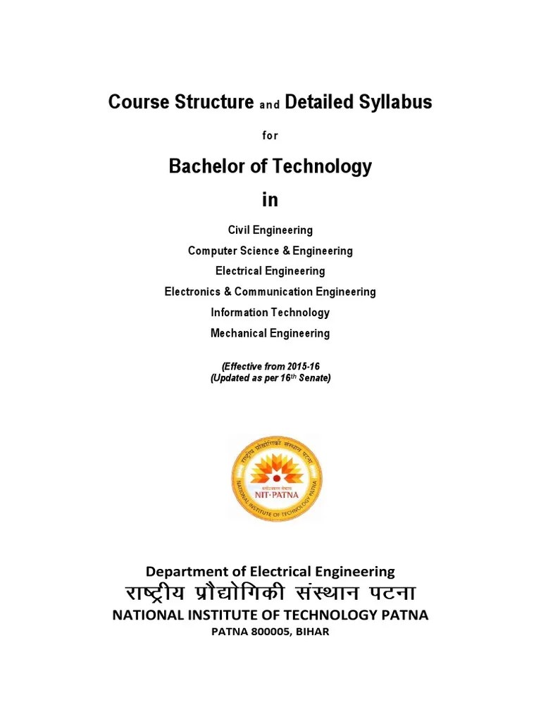 1 2 1 B Tech All Branch Syllabus 2015 25082015 Pdf