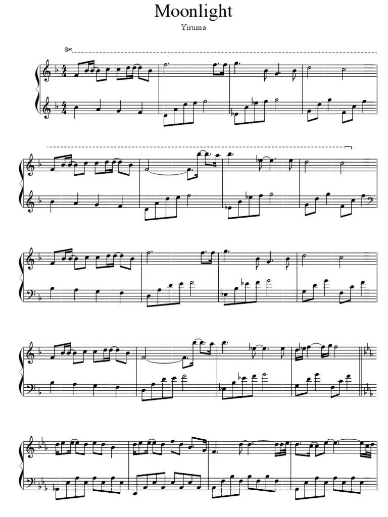 Yiruma Tears Love Sheet Music