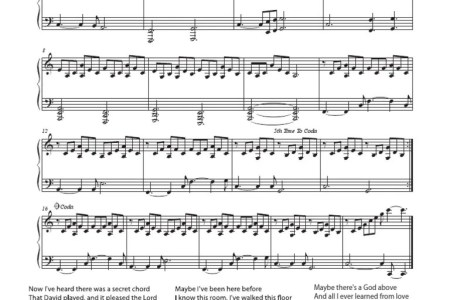 free printable piano sheet music for hallelujah by leonard cohen ...