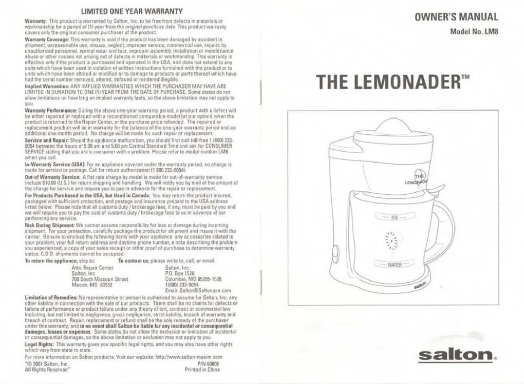 Lemonade Commercial Maker
