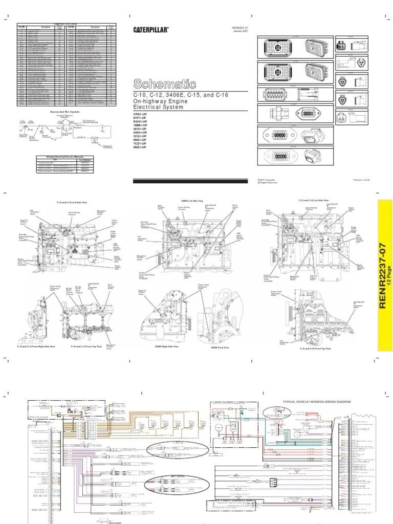 Caterpillar 3406e Wiring Diagram Cat Engine Teaching