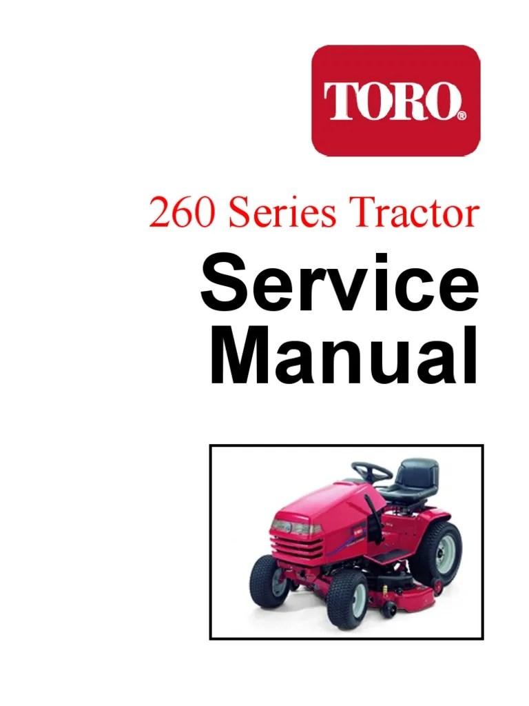 Toro Wheel Horse 267h Garden Tractor