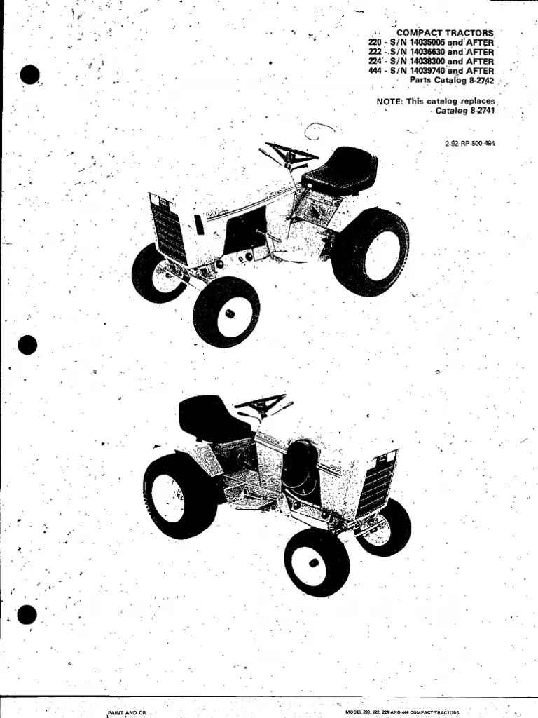 Case 442 Garden Tractor Wiring Diagram