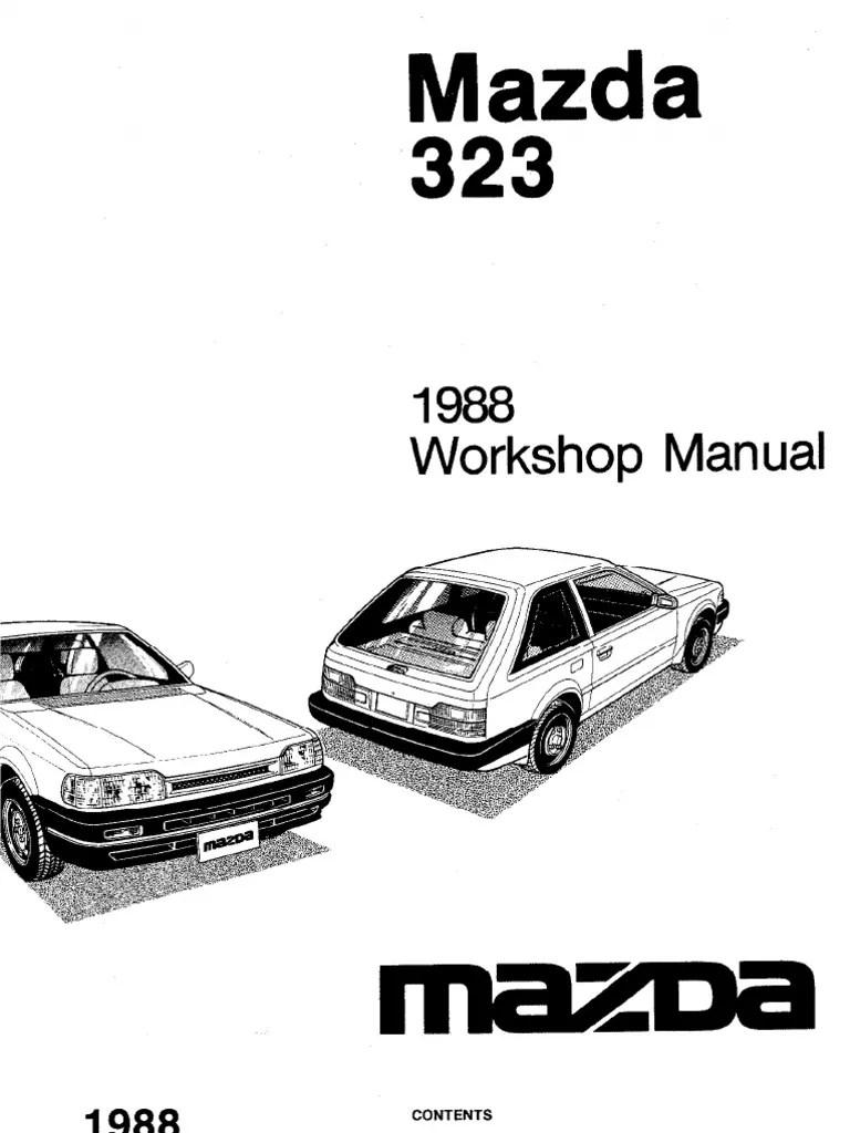1989 repair manual array plete 1988 mazda 323 workshop manual belt mechanical rh