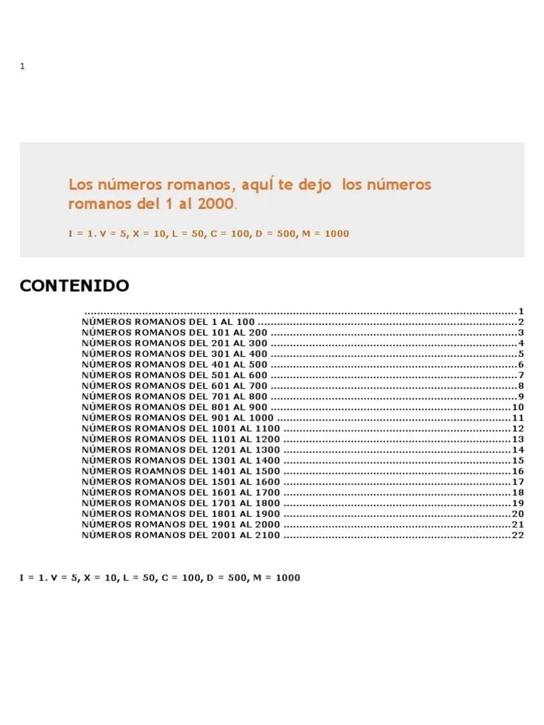 3000 Numeros Romanos Al Del 2000