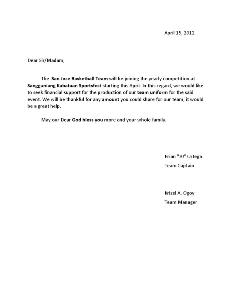 Solicitation letter for basketball uniform thecheapjerseys Image collections