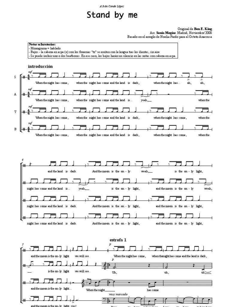 Stand By Me SATB A Cappella sheet music | Nature