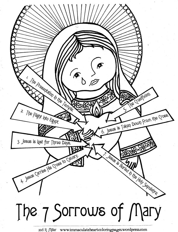 mary coloring pages # 17