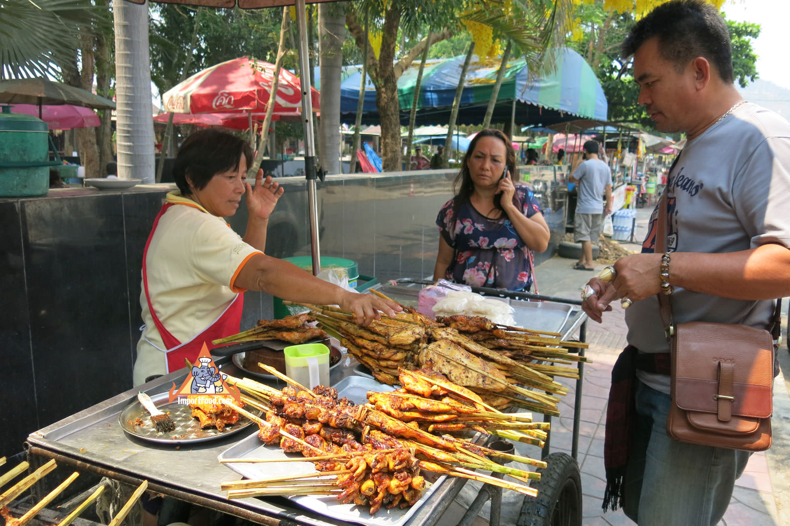 Vendor Talks About Gai Yang Importfood