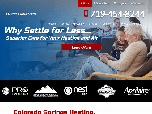 Climate Solutions LLC_ Colorado Springs, CO Heating & Air Conditioning Company