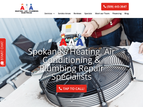 HVAC_Plumbers Spokane • AAA Heating, Air & Plumbing
