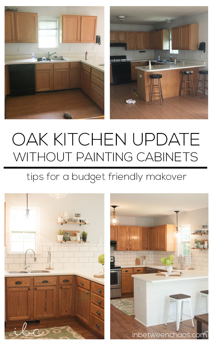 Best Kitchen Gallery: Updating A 90s Kitchen Without Painting Cabi S of Update Oak Kitchen Cabinets on rachelxblog.com