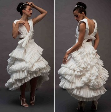 A Toilet Paper Wedding Dress   Incredible Things A Toilet Paper Wedding Dress