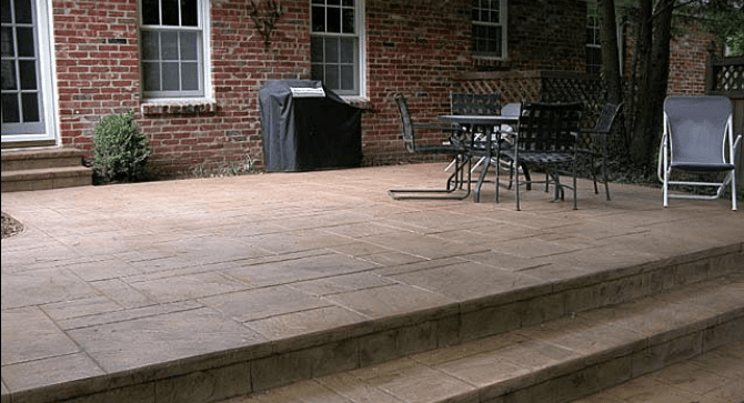 Placing New Concrete Over Old In Decorative Concrete | Wood Stairs Over Concrete | Stair Stringers | Composite Decking | Cement | Front Porch | Stoop