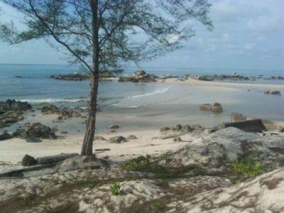 Relaxing at Panyaeran Beach, Belitung Island