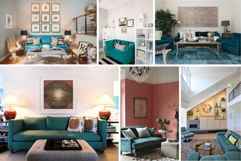 13 Awesome Living Room Ideas With A Teal Sofa That