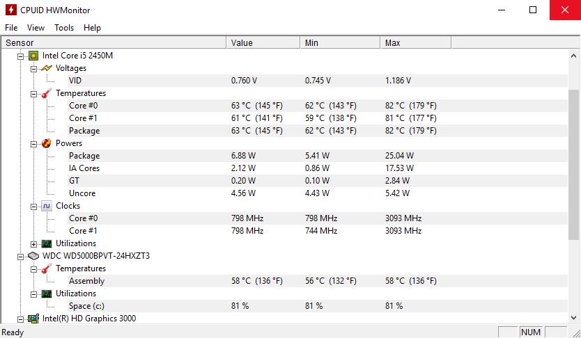 Quale temperatura del processore è considerata normale per un computer?
