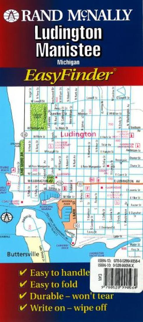 Ludington And Manistee Michigan Easyfinder By Rand Mcnally